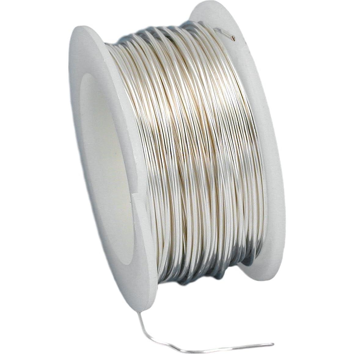 22 Gauge Copper Wire - 8yd/Natural Silver
