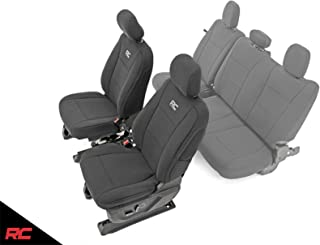 Rough Country Neoprene Seat Covers Front Black (fits) 2015-2019 F150 Water Resistant 91016