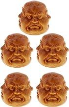 Prettyia 5pc Four-Face Buddmst Buddha Head Statue Sculpture Home Decorative Ornaments