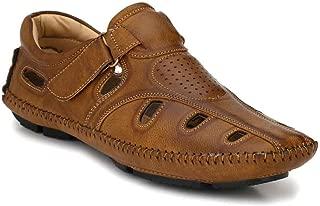 LEVANSE Men's Leather Formal Sandals