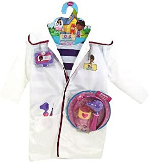 Disney Doc McStuffins Doctors Coat Costume Set with Shirt and Bonus Accessories