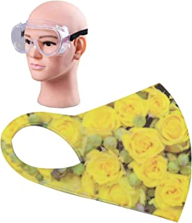HACER Combo of 1 Piece Goggle ORFRM15 Reusable Female Face Mask for Girls & Women Multilayer Washable Stretchable Breathable Protective Nose Mouth Cover (1 Pc)