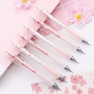 GOUWEI 0.5mm Japan Lovely Cherry Blossoms Automatic Pencil Kawaii Plastic Mechanical Pencils for Kids Gifts Student Suppli...