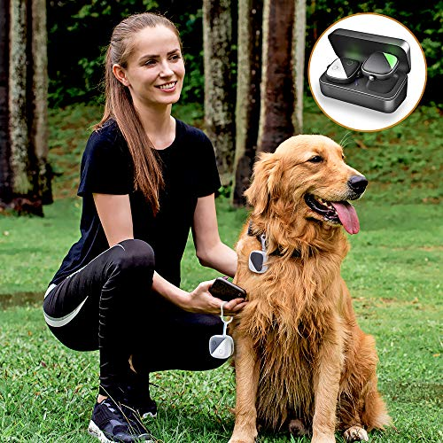 Pet GPS Tracker for Dogs,No Monthly fee, Real-Time Tracking Device for Multiple Pets(Tracker+Controller)