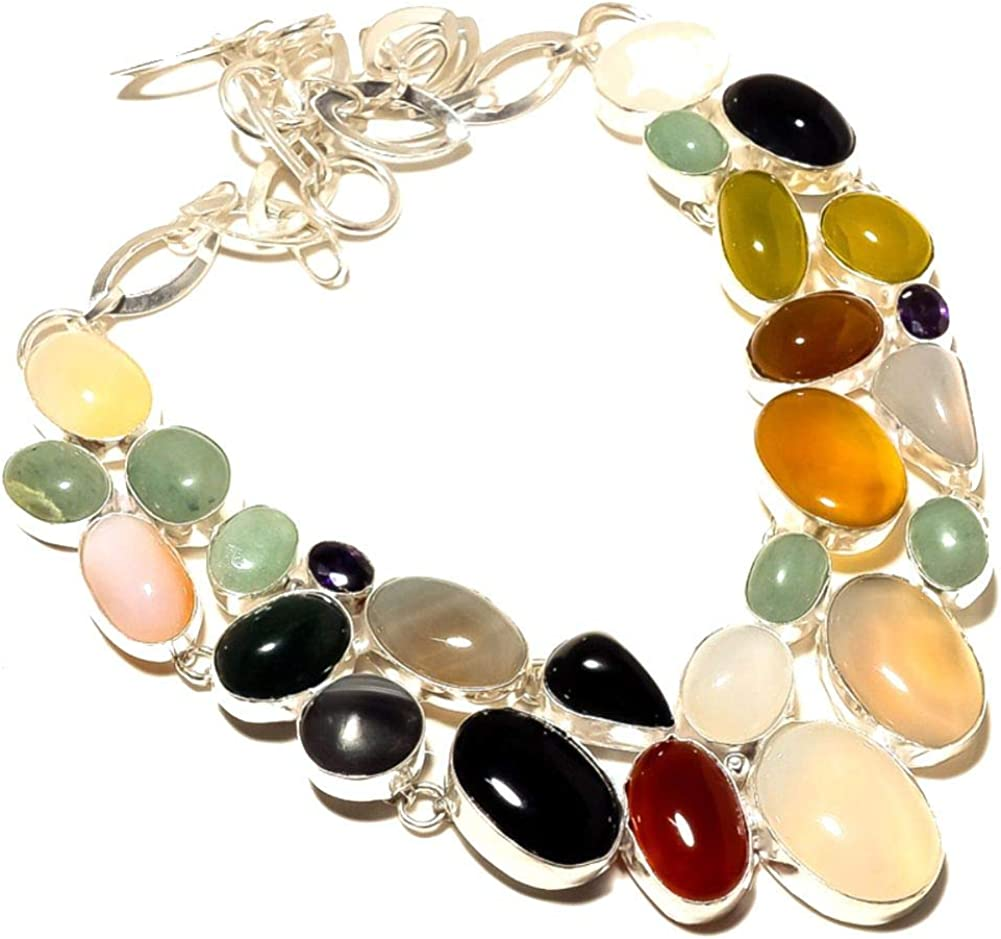 New Free Max 56% OFF Shipping Green AMAZONITE Black ONYX Red NEC Colorful CARNELIAN CHALCEDONY