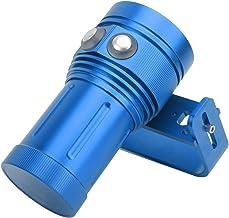 QiaNgshuAikj Zaklampen, Outdoor Waterdichte Duiken Super Heldere LED Zaklamp 80M Onderwater Vul Licht, Voor Duiken Zwemmen...