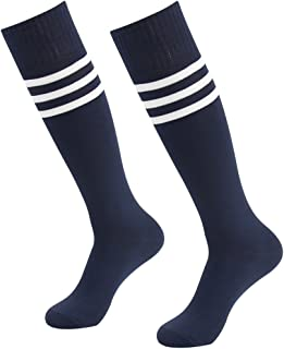 Long Tube Soccer Socks, Diwollsam Unisex 2/6/10 Pairs Knee High Halloween Costumes Striped Sport Football Team Socks