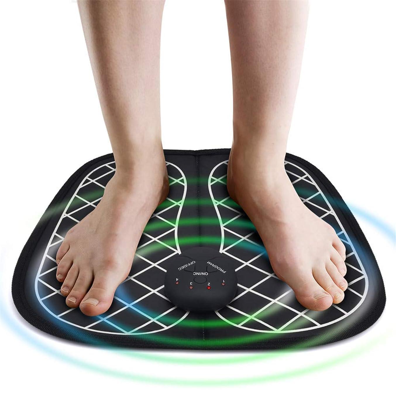 蓄積する不機嫌そうなディーラーEMSフットマッサージャーABSトレーナー理学療法若返りフットセラピー多数のワイヤレスフットバイブレーター筋肉刺激装置ユニセックス