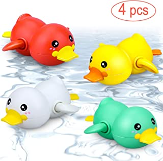 Baby Bath Toys Bathtub Swimming Pool Toy Wind up Floating Clockwork Ducks for Toddlers Kids Wind Up Turtle Animal Bath Toy...