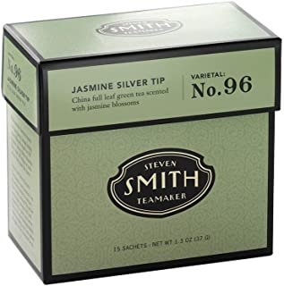 Smith Teamaker | Jasmine Silver Tip No. 96 | Caffeinated Green Tea with Jasmine Blossoms | Scented Full Leaf Green Tea (15...