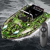 Bote de Cebo con buscador de Peces con GPS - Bote de Cebo de 500 m Bote de Cebo Pesca con Control Remoto Inteligente con luz Nocturna LED y ecosonda para Pescar en ríos, Lagos o Aguas Poco Profundas