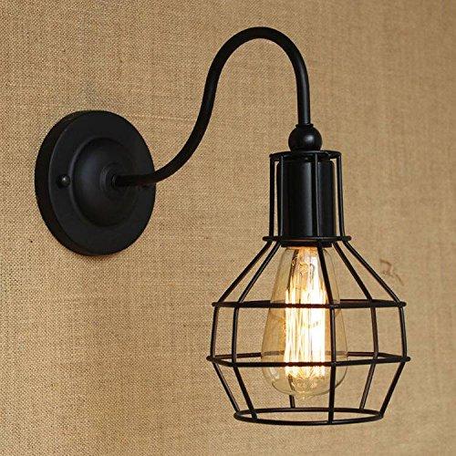 Bazaar Industrie américaine fer cru lampe de mur noir pour balcon café