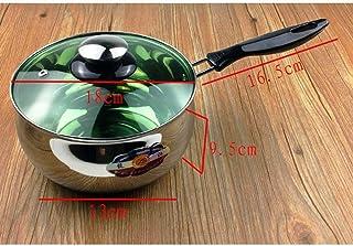 Yanzz Inoxidable Leche Olla Cacerola Mini Fideos Pot multifunción de Hogares (Tamaño: S) dsfhsfd (Size : Large)