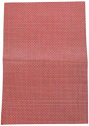 KESPER Set de Table en plastiqué en Rouge, Plastique, 43x29x0,1 cm