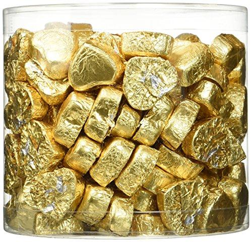Günthart Dose mit 150 Schokolade Herzen | GOLD | Pralinen Herzen gefüllt mit Nougat Creme | 1er Pack (1 x 1.2 kg)