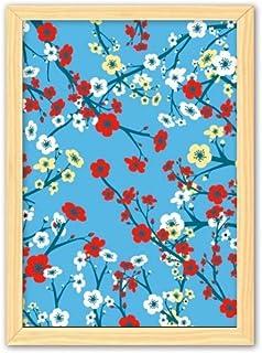 CaoGSH Cadre photo décoratif en bois Motif branche de Sakura japonaise A4