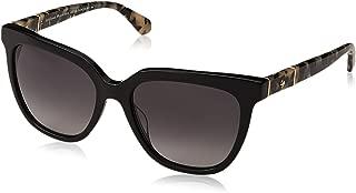 Kate Spade Women's Kahli/s Square Sunglasses, Black, 53 mm