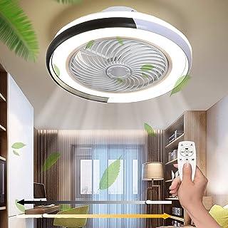 LED Fan Plafonnier Moderne,Ventilateur Ventilateur Au Plafond avec Dimmable Lampe avec 3 Vitesse du Vent Réglable Ultra Si...