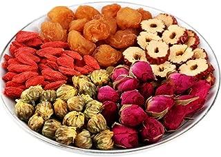 OuYang Hengzhi Longan, Dried Jujube, Goji Berry, Double Red Rose, Chrysanthemum Flowers Tea Giu Zao Wu Bao Cha 桂枣五宝茶 20 Small Bags