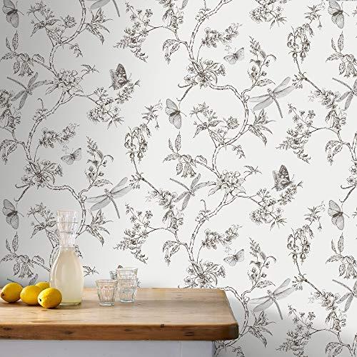 Graham & brown 33-008 - Vellón de recogida de papel tapiz de vida moderno, blanco
