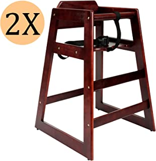Red Heartwood Adjustable Wooden High Chair Baby Highchair Solution for Babies and Toddlers Dining Highchair from 24 Months