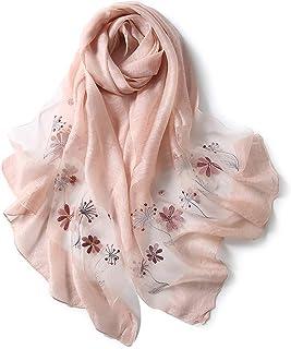 アンミダ(ANMIDA)シルクストール ストール 大判ストール スカーフ ショール シルク 刺繍 花柄 大判 レディース UV ストール 春夏 上品