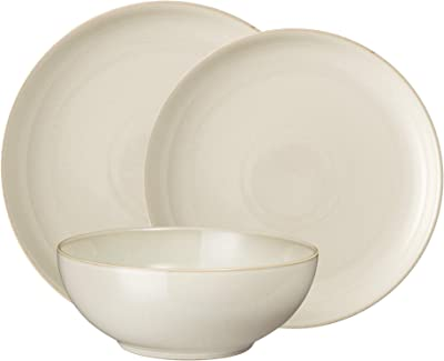 Denby Linen Coupe 12 Piece Set, Service for 4, Cream