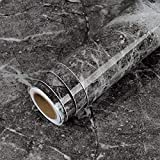 LaCheery Marble Contact Paper for Cabinets 160 x 12 inch Peel and Stick Wallpaper Kitchen Countertop Contact Paper Decorative Vinyl Countertops Waterproof Self Adhesive Wall Paper Roll for Furniture