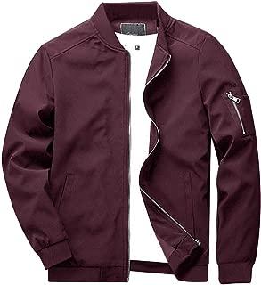 Men's Spring Fall Casual Slim Fit Thin Lightweight Outwear Sportswear Bomber Jacket Coat