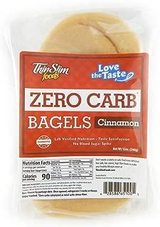 ThinSlim Foods 90 Calorie, 0g Net Carb, Love The Taste Low Carb Cinnamon Bagels