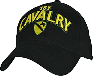US Army 1ST Cavalry CAV Division Direct Embroidered Hat - Color - Veteran Owned Business Black