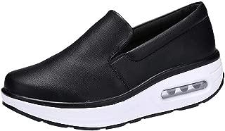 FORUU Women Round Head Air Cushion Slip-on Leisure Comfortable Shoes Shake Shoes