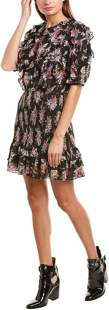Rebecca Taylor Women's Short Sleeve Bouquet Ruffle Dress
