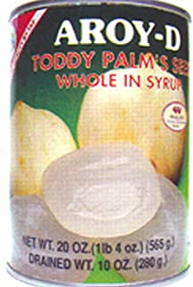 Toddy Palm Seed Whole in Syrup 20oz (Pack of 6)