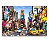 Sinus Art Leinwandbild 90x60cm Urbane Fotografie – Times
