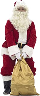 PAMPAS Crimson Regency Plush Santa Suit 10pc.