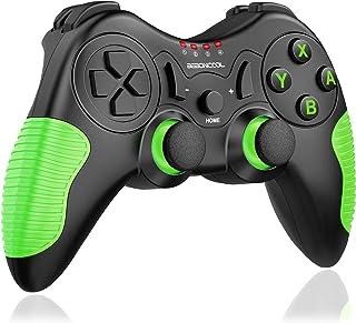 最新版 Switch コントローラー BEBONCOOL スイッチ プロコン HD振動 ジャイロセンサー搭載 高耐久ボタン ニンテンドースイッチ 対応 ワイヤレス コントローラー (緑)