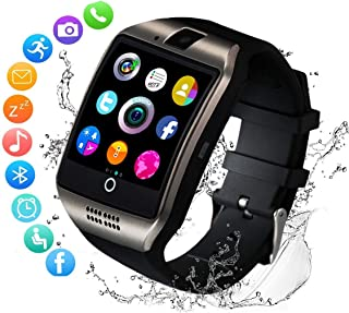 Smart Watch,Bluetooth SmartWatch with Camera Touchscreen,Smart Watches Waterproof Unlocked Phones Watch with SIM Card Slot,SmartWatches Compatible with Android Phone XS 8 7 6 Samsung (Q18)