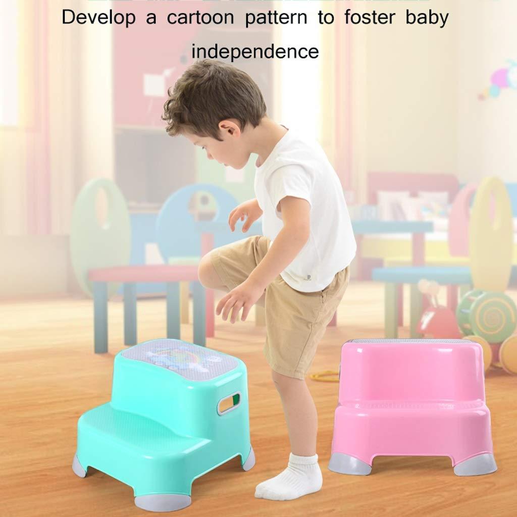 Taburete de Paso Espesar para niños pequeños Lavabo de plástico Almohadilla Reposapiés Escaleras para bebés Antideslizante Escalera Ascendente Cuarto de baño Fregadero de la Cocina ZHAOSHUNLI: Amazon.es: Hogar