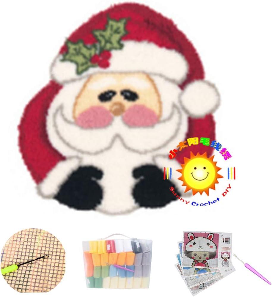 Lee My Hook Rug Kit DIY Sales for sale Sets New popularity Needlework Cove Santa Cushion Claus