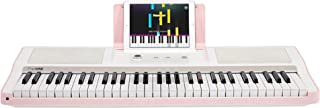 The ONE Smart Piano Keyboard with Lighted Keys, Electric Piano 61 keys, Home Digital Music Keyboard, Teaching Portable Keyboard Piano, Pink