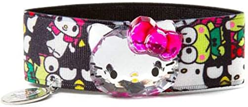 Hello Kitty 40th Anniversary Colorful Elastic Stretch Ribbon Charm Bracelet