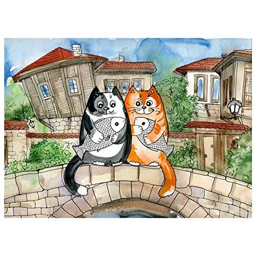 Rompecabezas de madera para adultos, 500 unids rompecabezas lindo dibujos animados gatos montaje de animales DIY rompecabezas educativos interesantes juegos padre niño juegos niños juguetes