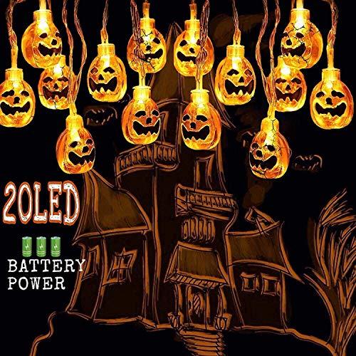 SanXingRui LED Kürbis Lichterkette Pumpkin Light String Halloween Feenhaftes Licht Themed Machen Sie Eine Besondere Atmosphäre (Gelb)