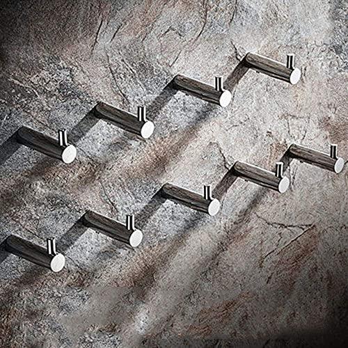LZQBD Hangers, Badkamer Haak 304 Rvs Geperforeerde Handdoekjas Haak Muur Opknoping Deur Achterwand Jas Haak Solid Roestvrijstalen Geborstelde Spiegel Optioneel,B,9