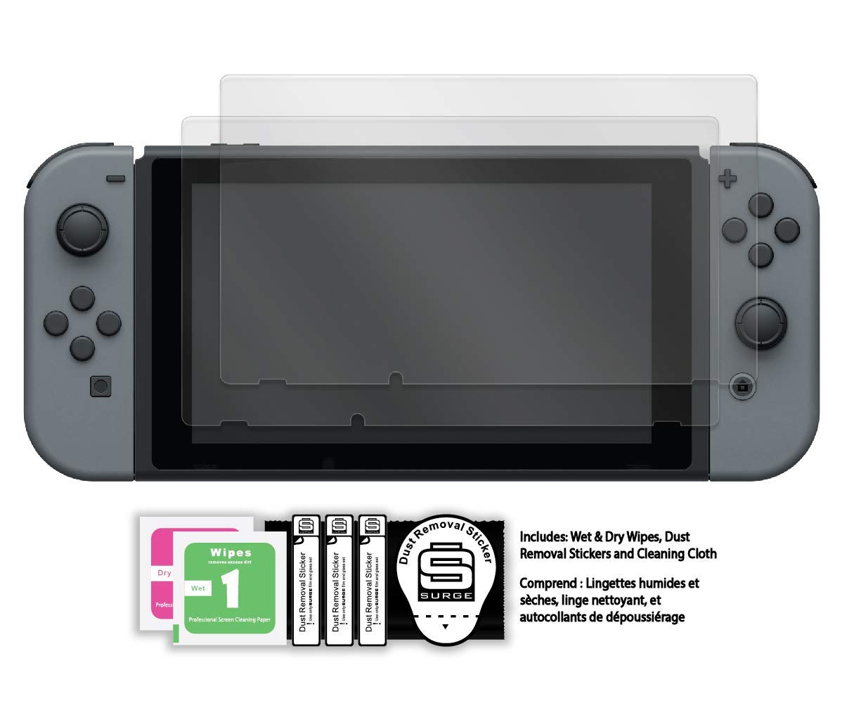 Surge Nintendo Switch Temperedshield Protectors Store Max 61% OFF Screen 2-Pack -
