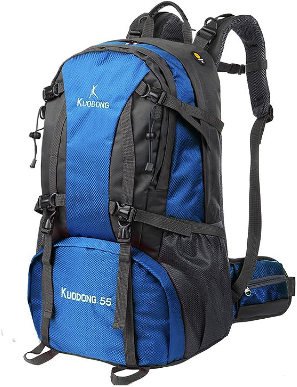 MuMa Daypacks Rucksack Groe Kapazitt Bergsteigertasche Freizeit Reisetasche Sport Reiserucksack (Farbe   Blau)