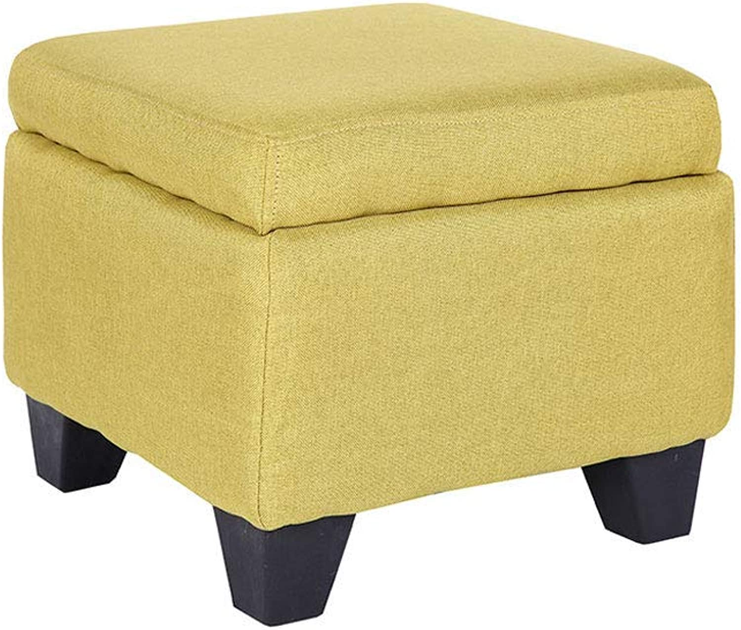 GJD Fabric Footstool, Can Accommodate Storage Stool, Home Creative Lazy Stool 40×40cm, Multi-color Selection (color   Matcha)
