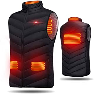 Heated Vest USB Electric Heated Vest Heated Waistcoat Charging Heating Vest Clothing for Skiing Hiking Motorcycle Travel Fishing Golf (Battery Not Included)