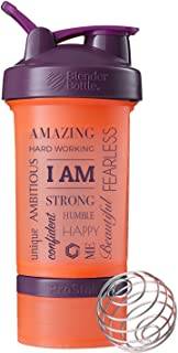 I Am WordメッシュBlender Bottle ProStak、22oz Protein Shaker Cup with Twist n 'ロックストレージコンテナ
